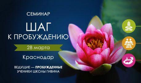 Семинар «Шаг к ПРОБУЖДЕНИЮ» Краснодаре