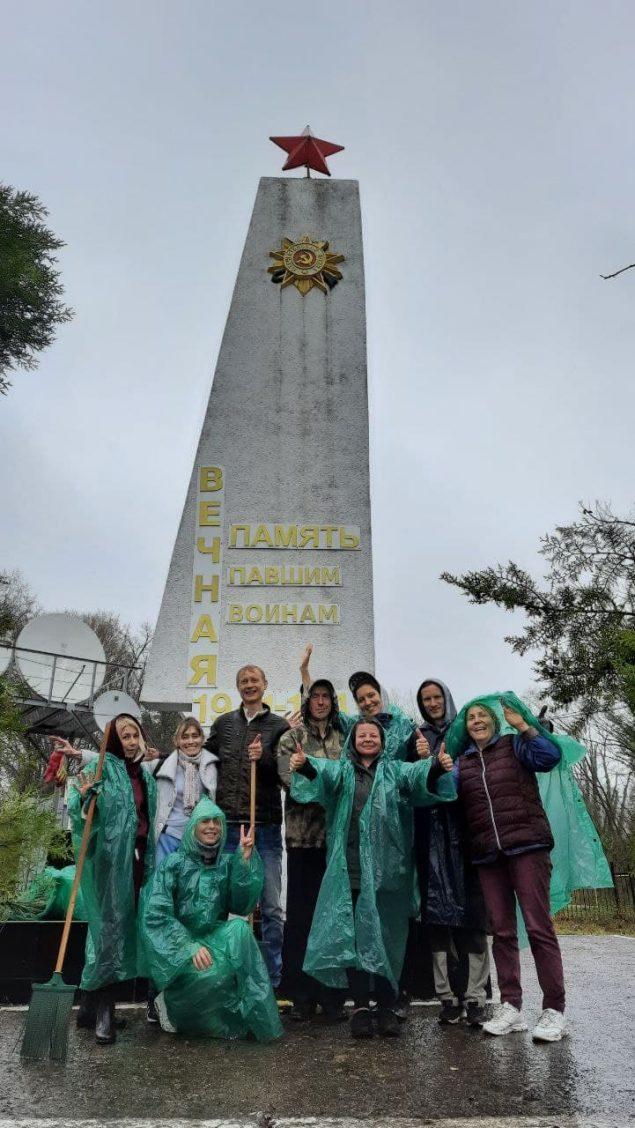 уборка памятников ВОВ
